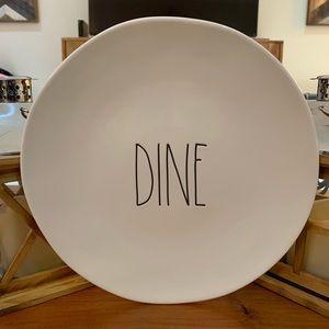"""Rae Dunn Set of 4 DINE 11"""" Dinner Plates 🍽 🎁"""